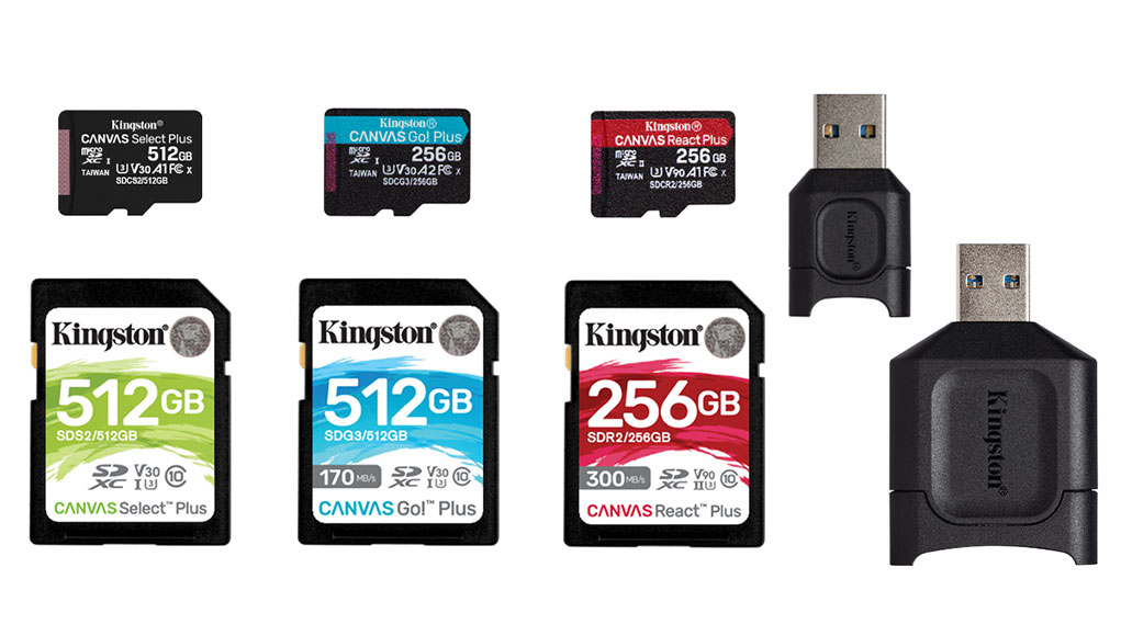 Kingston'dan yeni kart ve kart okuyucu serisi: Canvas Plus, MobileLite Plus