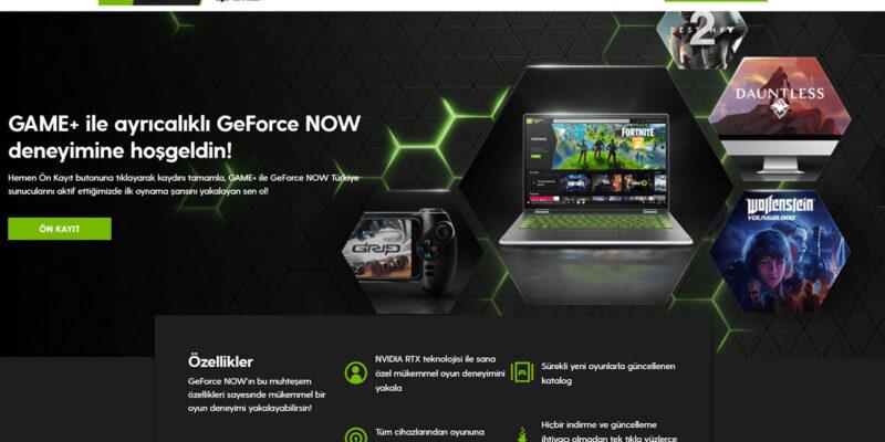NVIDIA GeForce NOW, Turkcell'in yeni oyun platformu GAMEPLUS iş birliği ile Türkiye sunucularında